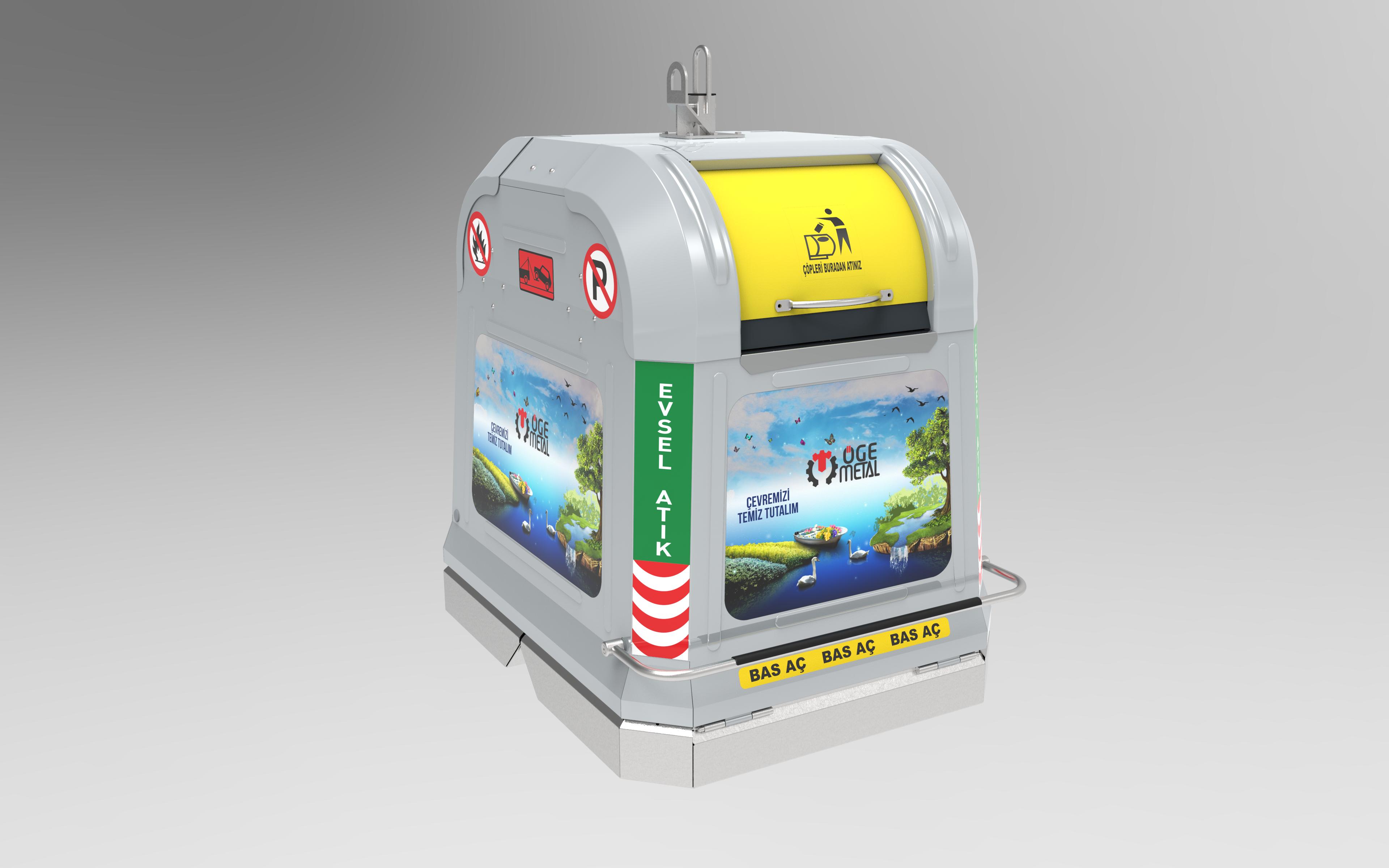 Yeni 2500 Litre Yerüstü Çöp Konteyner Sistemi