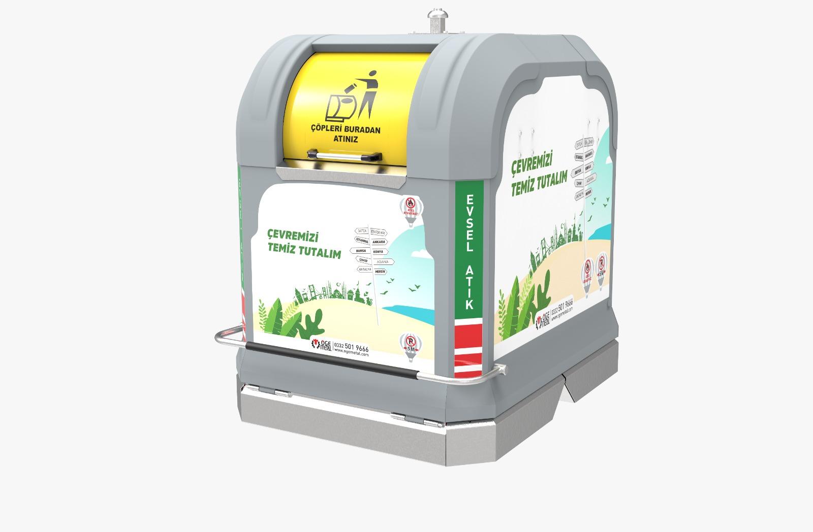 Yeni 3000 Litre Yerüstü Çöp Konteyner Sistem