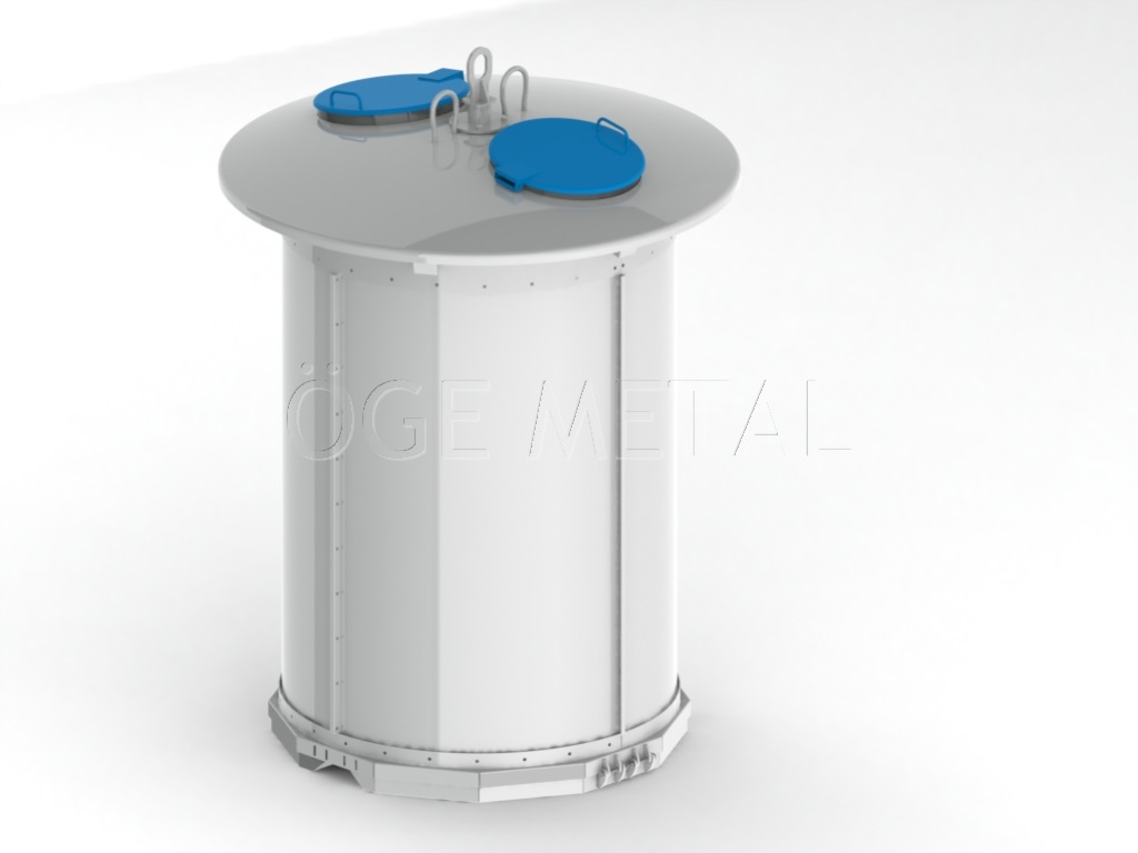 5000 Liters Semi Underground Waste Container System