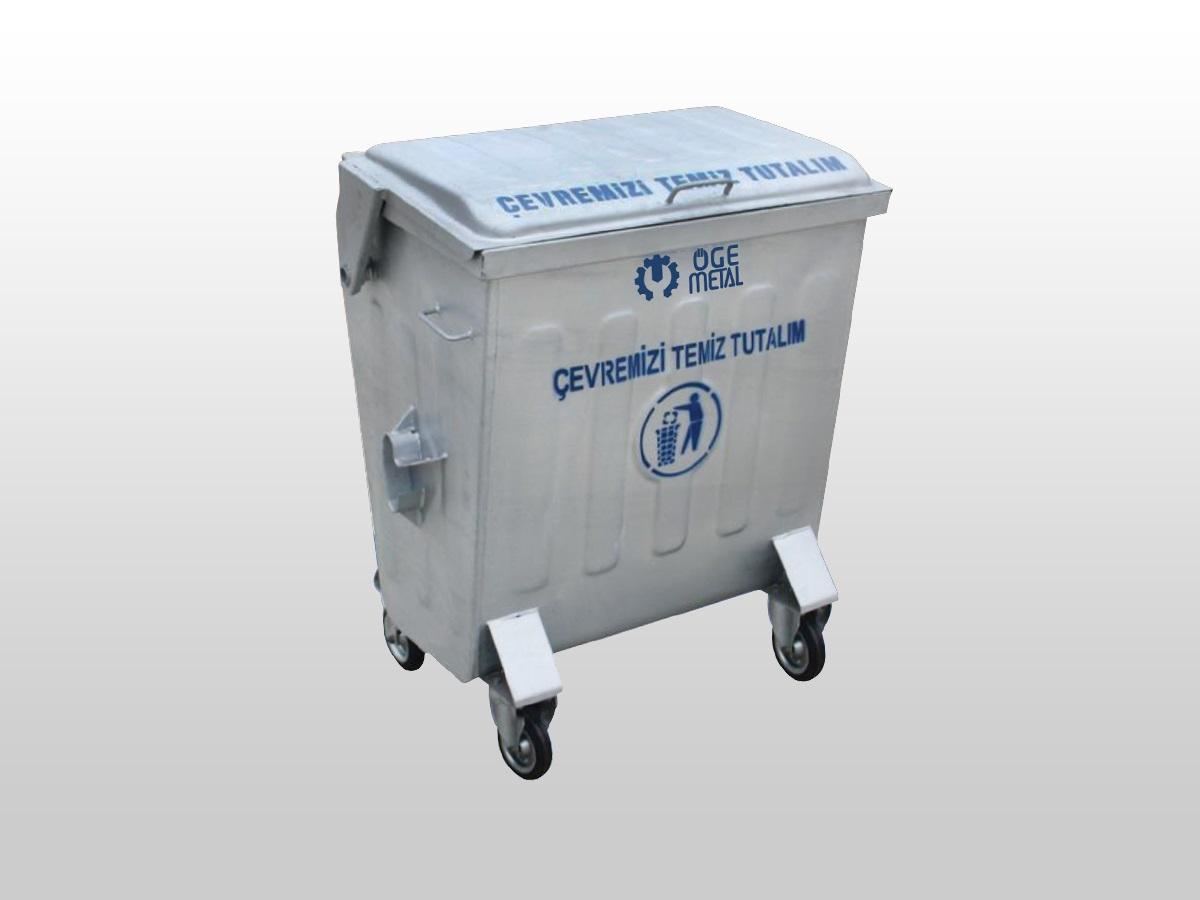 400 Litre Sıcak Daldırma Galvaniz Çöp Konteyneri
